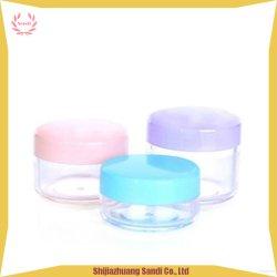 Vaso crema di piccola dimensione di plastica di PS per uso delle estetiche di corsa