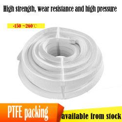 Embalaje de PTFE de 4mm se pueden agregar fibra de carbono Fibra de PTFE de embalaje de la glándula de la cuerda
