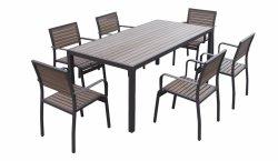 General usó Patio al aire libre juego de comedor de madera de plástico Polywood muebles ocio al aire libre juego de comedor al aire libre
