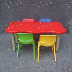 As crianças as mesas e cadeiras de plástico para crianças de parte do jardim de infância Yc-P21