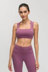 Starkes Winternylon/Spandex-nahtloses Yoga-gesetzte Sport-Abnützung für Frauen, hohe Taille Legging und geerntetes Shirt-Eignung-Set