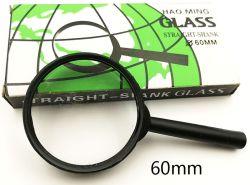 60mm プラスチックハンドル拡大鏡付きの安価な拡大鏡