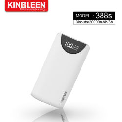 20000 mAh портативный внешний аккумулятор с устройство для экстренной подзарядки светодиодный дисплей