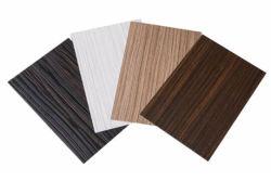 Panel de HPL de grano de madera utilizados para la piel y el interior de la puerta de la piel del Gabinete de cocina