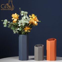 Arte nórdicos vaso de cerâmica Hexagonal criativo geométrica Alpendre Desktop Decoração enfeites