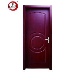 Nouveau produit Accueil de l'intérieur de la moitié long de la porte en verre translucide de couleur gris porte en bois massif