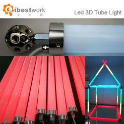 Commerce de gros de la magie des couleurs RVB DMX éclairage de scène du feu du tube de la géométrie de 360 degrés