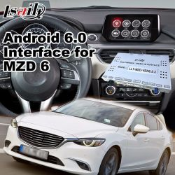 Android Market 7.1 Car Multimedia do Sistema de Navegação Mazda 6 Sedan com o botão e volante Vídeo Contorl Caixa de interface