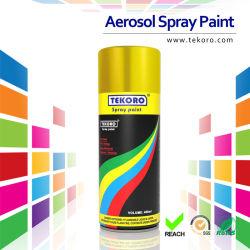 Efecto de pintura de aerosol dorado brillante