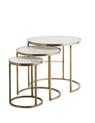 OEM-кофейный столик комплект из нержавеющей стали таблицы со стороны кафе мебель