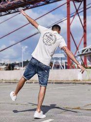 2021 homens da moda elegante novo Pop Verão prensa de lazer rua colorida Menino Shorts calças de ganga