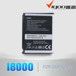 Batterie de téléphone pour Samsung I8000 avec une haute qualité