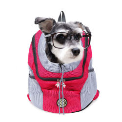 Neuer heraus doppelter Schulter-beweglicher Arbeitsweg-Rucksack-im Freienhaustier-Hundeträger-Beutel-Haustier-Hundevorderseite-Beutel-Ineinander greifen-Rucksack-Kopf