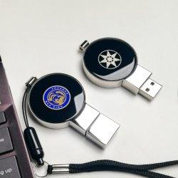 شعار LED المحمول قلادة ذاكرة USB سعة 2 غ 4غ 8غ 16غ 32 جم