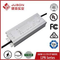 保証5年のの屋内および屋外LEDライトのためのJuson 100Wの不変の力LEDドライバー金属ハウジング