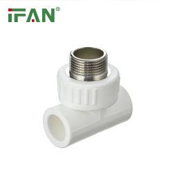 Couleur blanche ISO9001 vérifié 20-63mm Chine PPR de haute qualité en usine du raccord de tuyau Raccord en T à filetage mâle