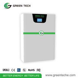Powerwall 15kwh の家のリチウム電池の太陽貯蔵