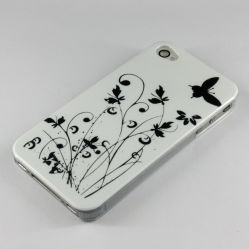 Het Geval van het Ontwerp van de Vlinder & van de Bloem van PC IMD voor iPhone4g, 4s.