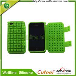 Couvercle de bande dessinée étuis en silicone pour iPhone 4,stand Support pour IPHONE4S 4G, (WF1200325)
