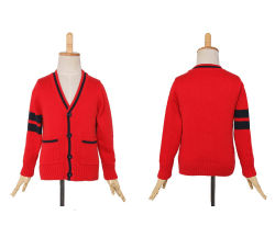 卸し売り学校のカーディガンの男女兼用の流行の子供の学生服のセーター