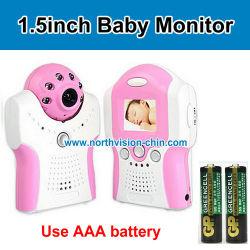 يمكن استخدام بطارية AAA مع جهاز مراقبة الطفل بحجم 2.4 غ وLED بالأشعة تحت الحمراء بحجم 6 حزم لكل بوصة لنظام Nightvision، مع خرج التلفزيون