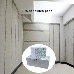 Placa de cimento do tipo sanduíche de poliuretano isolamento dentro do painel de parede
