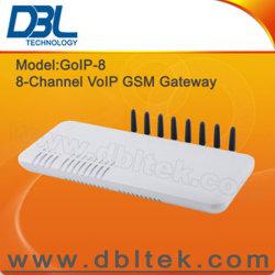 Passerelle VoIP GSM 8 ports / H. 323 et SIP / Appel global illimité GoIP8