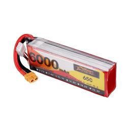 農業の無人機のための大きい容量RC電池11.1V 6000mAh 65c Lipo電池のパック