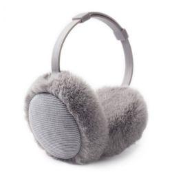 Moda Protectores auriculares de peles de coelho alimentação diretamente da fábrica de peles Real Protectores auriculares de Inverno