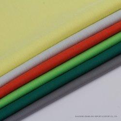 La nouveauté de la CVC 62%C38%t de coton tricotés Warp Rib tissu rayé robe pour T-Shirt