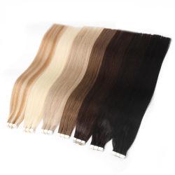 شريط لاصق مستقيم مربوط باليد بالشريط اللاصق امتدادات شعر الإنسان 16 بوصة 20 بوصة 24 بوصة 20PCS/40PCS FedEx