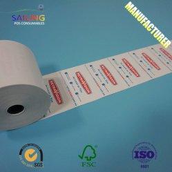 80X80 de la impresión offset de encintado Core de 65 gramos de rollo de papel térmico