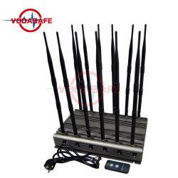 High-Power 정지되는 12bands 방해기 또는 차단제 Cellphone/Wi Fi 2.4G/Bluetooth/Walkie-Talkie/GPS