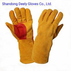 Cowhide кожаные перчатки для работы мужчин в строительной промышленности