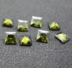 펜던트를 위한 Cut Olive Cubic Zirconia 공장 가격 공주 원석