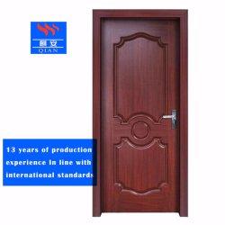 2019 fuego de una sola puerta de entrada de madera maciza con grabados terminado (FD-VN-036)