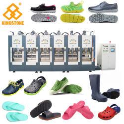 La espuma EVA automática máquina de moldeo por inyección para la elaboración de las zapatillas de suela zapato Sandalia Botas de lluvia en Material EVA