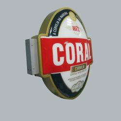 La publicité personnalisée de plein air allumé étanche Cercle acrylique Lettre Boîte à lumière de bord