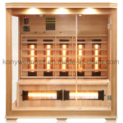 De nieuwe Grote veel Infrarode Sauna van het Ontwerp voor het Gebruik van 4 die Persoon van Zuivere Dollekervel wordt gemaakt