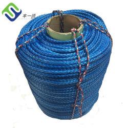Синий 18мм 12 ветви экранирующая оплетка UHMWPE швартовный трос