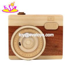 Formato de câmara criativos Caixa de música de madeira para crianças W07b060
