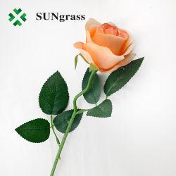 أزهار بلاستيكية اصطناعية من النسيج زهرات زهرات زوردية برتقالية باللون الأبيض الأحمر زهرة قرنفلية جميلة لزينة الزفاف