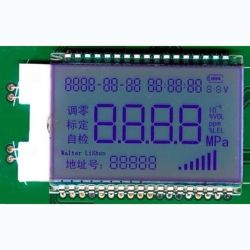 미터를 위한 관례 7 세그먼트 Tn LCD