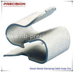 Китай Precison Рессорный штамповки изгиба кабеля резки пружинное стопорное закрепите зажим