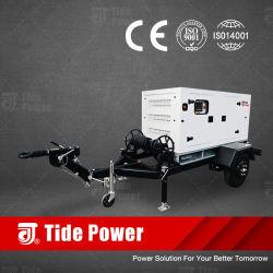 Geradores de reboque diesel tipo móvel silenciosa com motor Mtu Leroy Somer Stamford-3000Meccalte 450kVA kVA