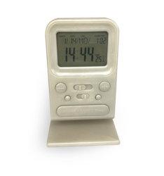 Grande orologio di Digitahi della stazione metereologica di giorno della data di calendario
