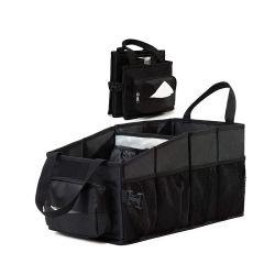 Borsa organizer anteriore pieghevole per auto, scatola per tessuti e portabicchieri, borsa organizer per auto con sedile posteriore tra i sedili