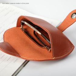 حقيبة زجاجية جلديّة جلديّة ناعمة جلديّة، حقيبة زجاجية من الجلد المحضّر يدويًا من الدرجة الأولى