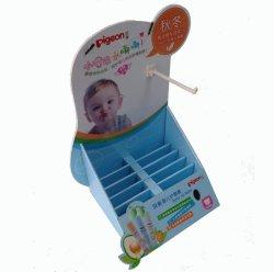 Supermercado Papelão caixas de expositor de produtos para bebé