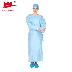 일회용 고품질 PE/PP 의료용 SMS 병원 격리 가운 보호 수술용 가운/실험실 가운